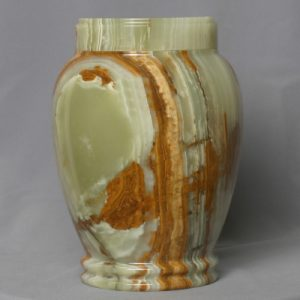 Green and Brown-Swirl Onyx Marble Pet Urn for cats and dogs