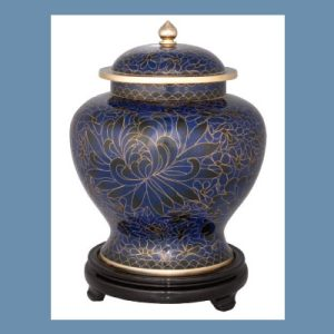Royal-Blue Pet Urn