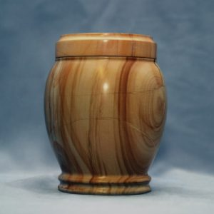 This teakwood marble pet urn is ideal for cats and dogs under 30 lbs