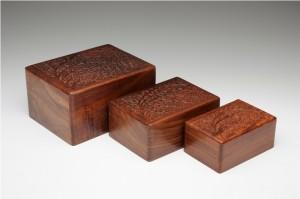 Rosewood box pet urns